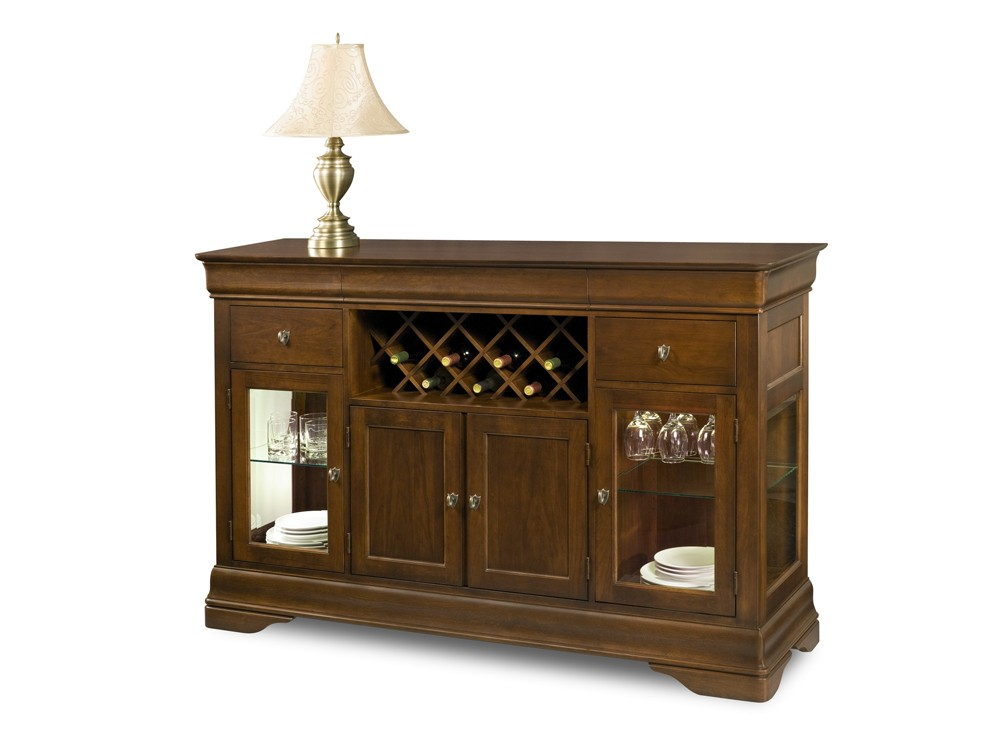 Louis Philippe Credenza with Wine Package. Louis Philippe   Dining Room   By Collections   Collection
