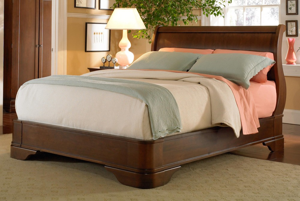 furniture made product classic oak sleigh american headboard sku bedroom
